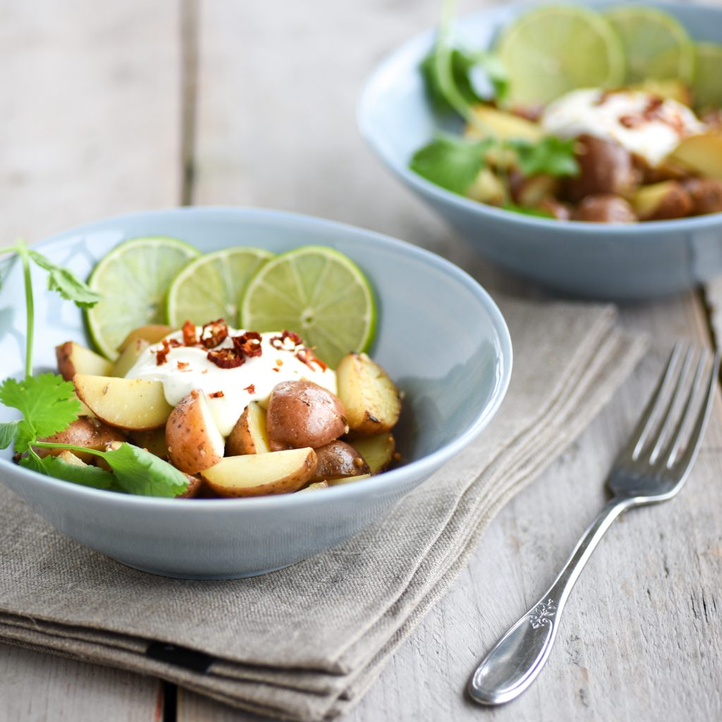 Pittige Cherry Potatoes salade