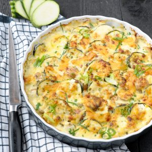 Courgette aardappel grati